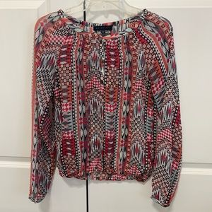 Sanctuary Aztec Print Blouse